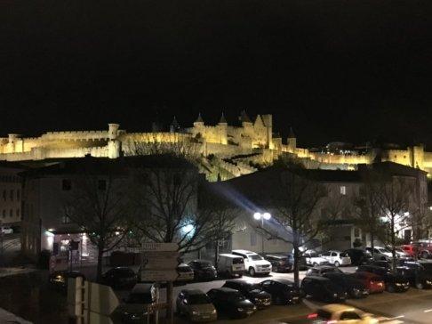 france carcassonne night